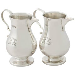Antique Victorian Sterling Silver Cream Jugs