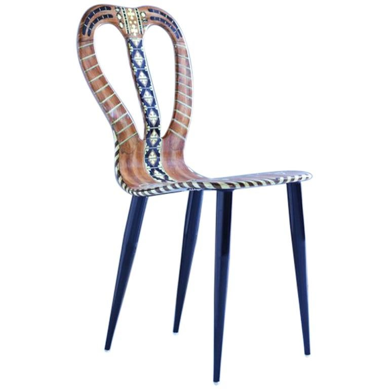 """Fornasetti Chair """"Musicale"""" For Sale"""
