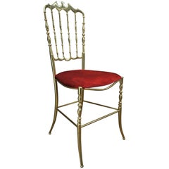 Chiavari Brass Chair, Italy, circa 1970