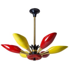 Colorful French Chandelier, circa 1960