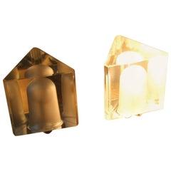 Alessandro Mendini for Fidenza Vetraria Table Lamp Italian Design 1960s Triangle