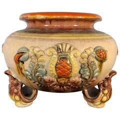 Handmade Majolica German Ceramic Planter Bowl Centrepiece Jardinière Pot