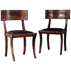 19th Century Empire Klismos Chairs