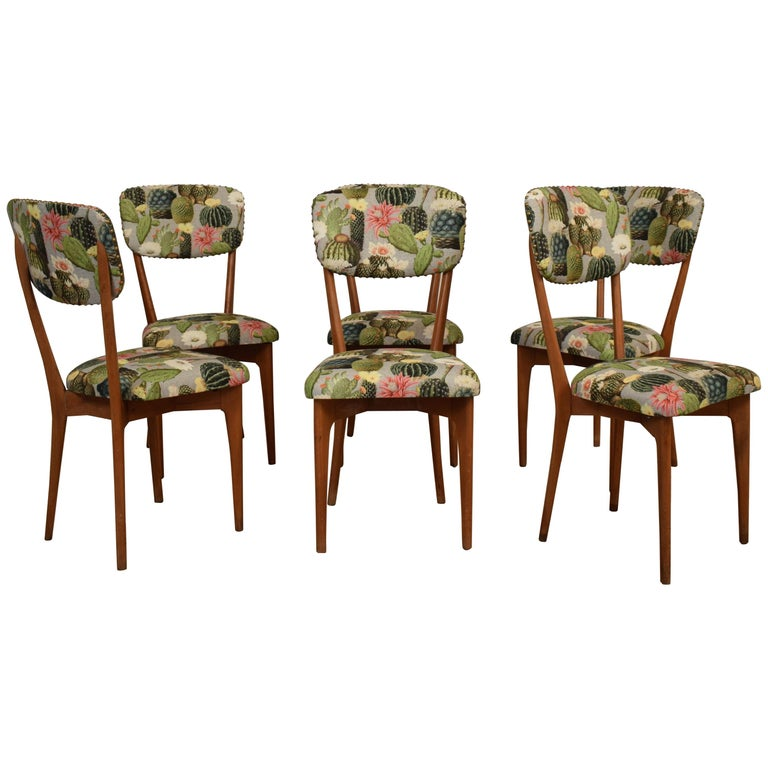 "Set of Six Chairs by Ico Parisi Model ""651"", Italy, circa 1950 For Sale"