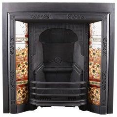 Antique Edwardian Art Nouveau Fireplace Insert, circa 1905