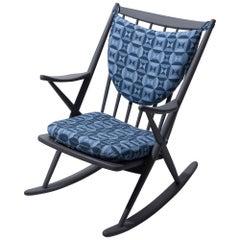 Frank Reenskaug Designed Rocking Chair for Bramin Møbler, Denmark, Designed 1958