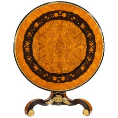 Exceptional 19th Century Marquetry Centre Table, Edward Holmes Baldock