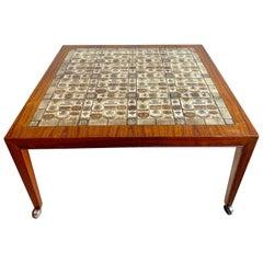 Severin Hansen Jr. Baca Tile Top Coffee Table in Rosewood