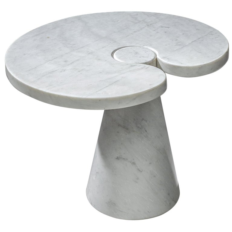 """Angelo Mangiarotti """"Eros"""" Marble Coffee Table For Sale"""