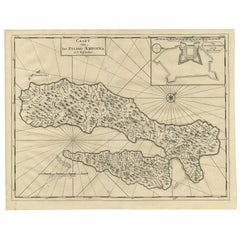 Antique Map of Ambon Island by Valentijn, 1726