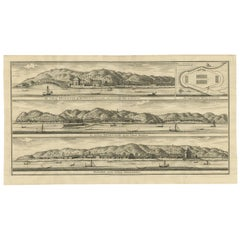 Antique Print of Fortifications in Indonesia by Valentijn '1726'