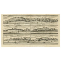 Antique Print of Trading Posts in Indonesia by Valentijn, 1726