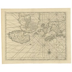 Antique Map of Ambon and Boero by Valentijn, 1726