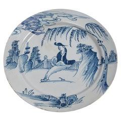 English, 18th Century Delftware Ceramic Plate