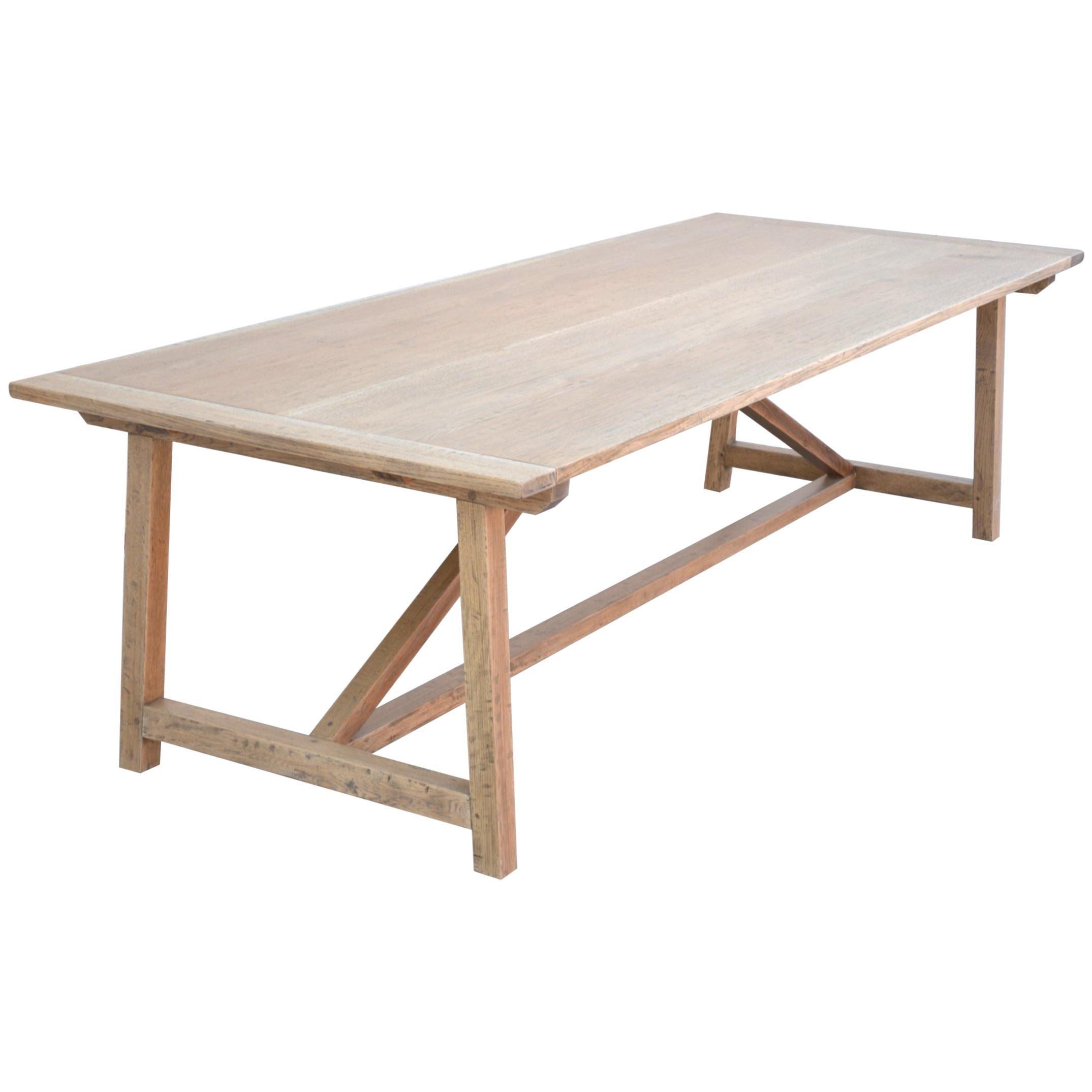 Custom Expandable Farm Table in Distressed Rift Sawn Oak