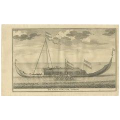 Antique Print of the Coracora Fleet by Valentijn, 1726