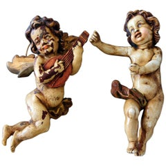 Angel Wood Handmade Putting Baroque Carving