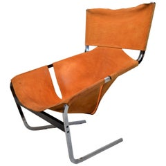 Pierre Paulin F444 Lounge Chair in Leather for Artifort, 1960