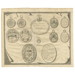 Antique Print Memorial Plaques of Ambon by Valentijn, 1726