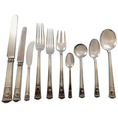 San Lorenzo by Tiffany and Co Sterling Silver Flatware Service Set 110 Pieces