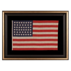 46 Stars with Varied Star Positioning on an Antique American Flag