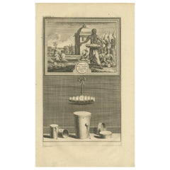 Antique Print of Various Drums by Valentijn '1726'