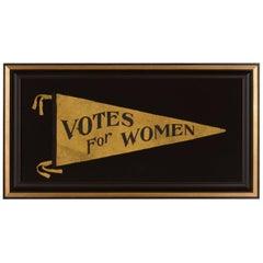 Large Triangular Suffragette Pennant