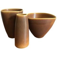 Per Linnemann-Schmidt for Palshus Scandinavian Stoneware Vases, 1960s
