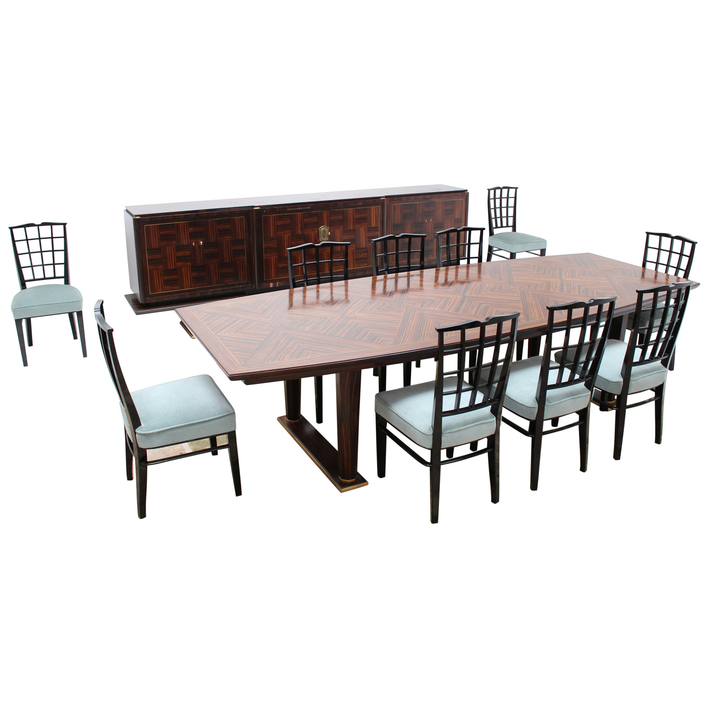 Fine French 1960s Dining Room Set by Dominique