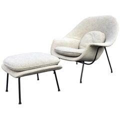 Early Eero Saarinen for Knoll Womb Chair and Ottoman