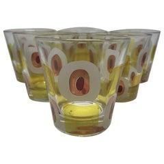 Set of Six Mid-Century Modern Italian Glasses