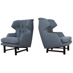 "Pair of ""Janus"" Wing Chairs by Edward Wormley for Dunbar"