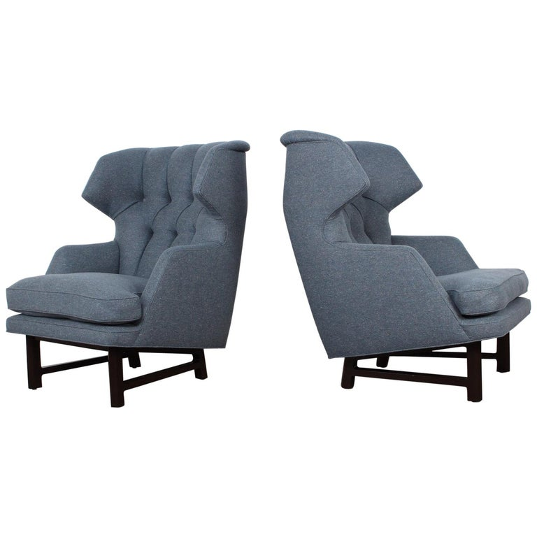 "Pair of ""Janus"" Wing Chairs by Edward Wormley for Dunbar For Sale"