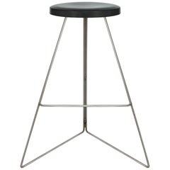 Coleman Stool, Natural Steel and Charcoal, Bar Height, 54 Variations Available