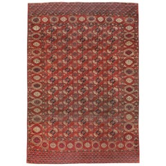 Antiker Zentralasiatischer Tekke Teppich