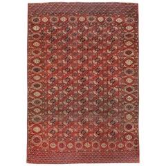 Antique Central Asian Tekke Carpet