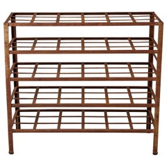 Industrial 5 Tier Shelf with Grid Shelves for Books or Usage as Seedling Planter