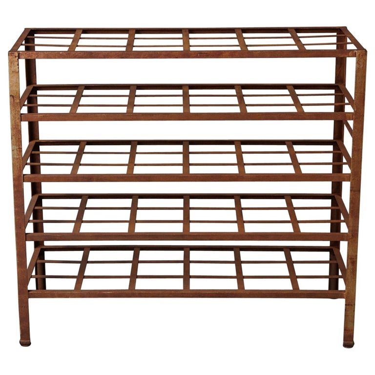 Industrial 5 Tier Shelf With Grid Shelves For Books Or Usage As