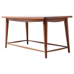 Wooden table with slate top, attributed to Jacob Müller, 1950s, Switzerland