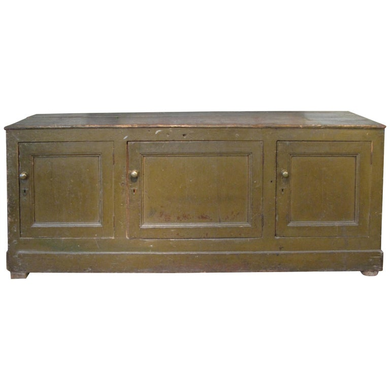 Antique 19th Century Italian Mercantile Cabinet For Sale