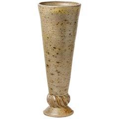 Mid-Century Stoneware Ceramic Vase by Andre Rozay in La Borne, circa 1945