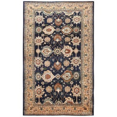 Large Blue Antique Persian Malayer Rug