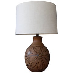 Stoneware Table Lamp by Brent Bennett, U.S.A, 1960s.