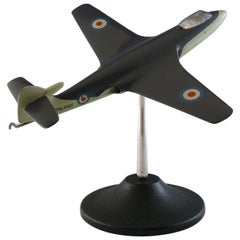 Hawker Sea Hawk Model Military Jet Airplane, circa 1950