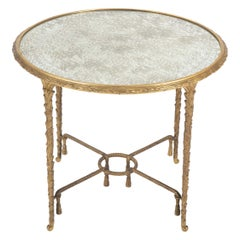 Maison Charles Bronze Mirrored Top Side Table