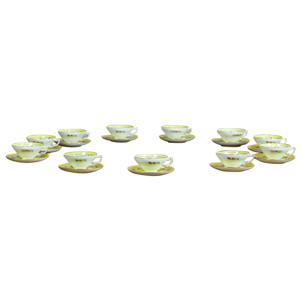 Set of English Mintons Cups, circa 1929
