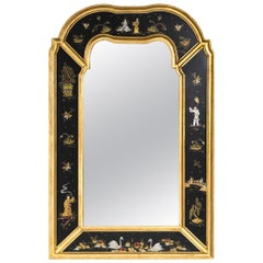 Vintage Large Chinoiserie Mirror-Friedman Brothers