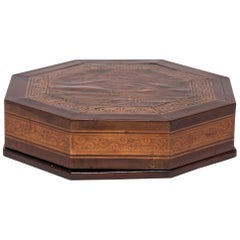 Late 19th Century Chinese Eight Sided Parquetry Snack Box