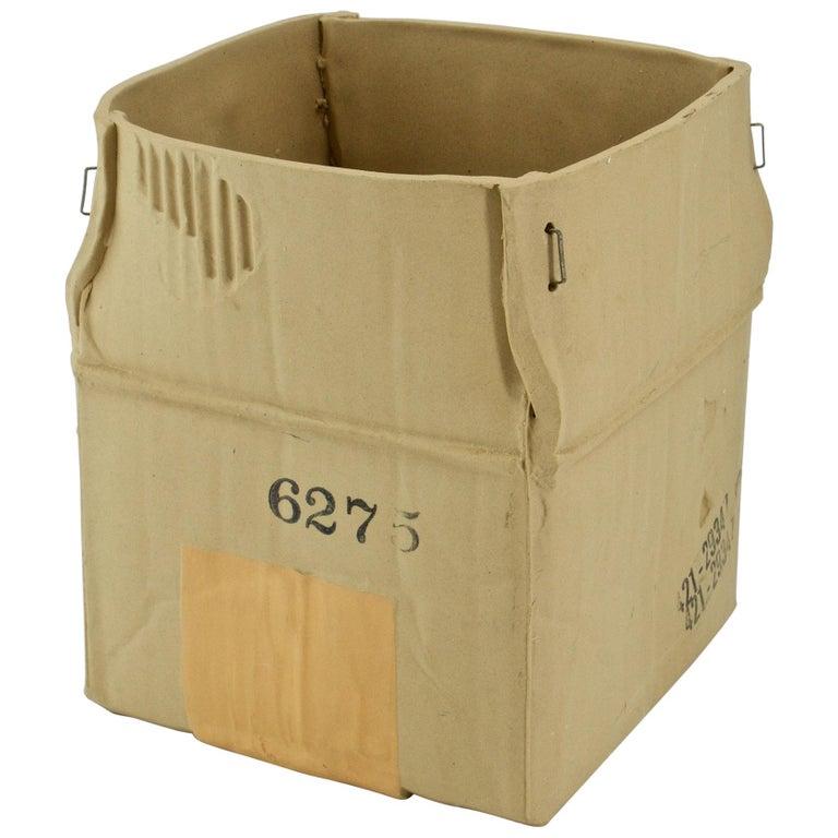1970s Pop Art Ceramic Hypereal Sculpture Cardboard Box Flower Vase Warhol Era For Sale