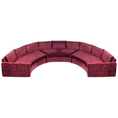 Large Scale Curved Sofa by Milo Baughman